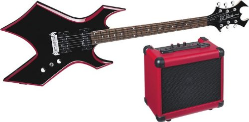 B.C. Rich Red Bevel Warlock Guitar Pack