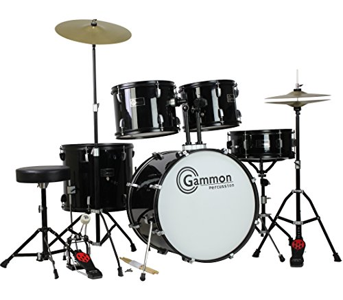 Gammon Percussion Full Size 5 Piece Drum Set