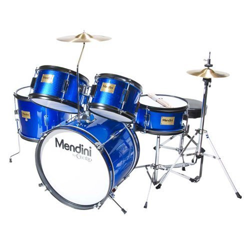 Mendini by Cecilio 5 Piece Complete Kids/Junior Drum set